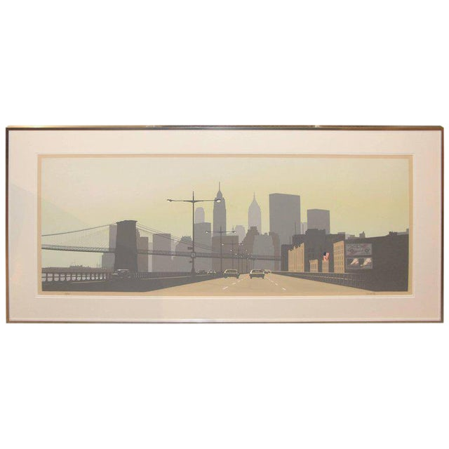 East Side Drive New York City Serigraph by Howard Kanovitz For Sale