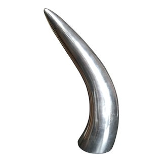Modernist Silver Horn Sculpture For Sale