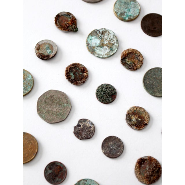 Vintage Oxidized Coin Collection For Sale - Image 6 of 11