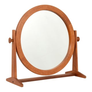 Mid 20th Century Jorges Pederson Mirror on Stand For Sale