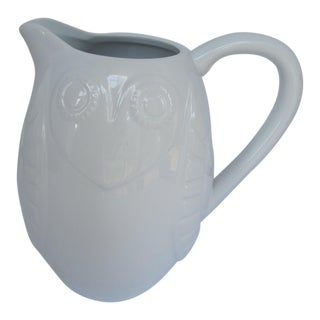 Johnathan Adler White Owl Pitcher For Sale