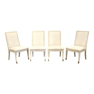 Henredon White Modern Dining Chairs - Set of 4 For Sale