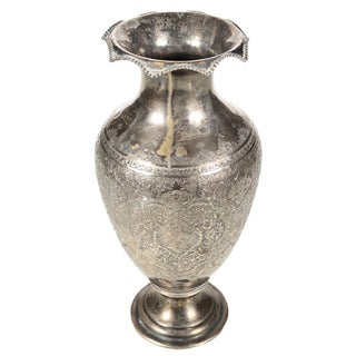 Antique Persian Silver Vase For Sale