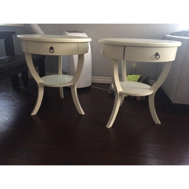Pottery Barn White Nightstands - A Pair - Image 2 of 5
