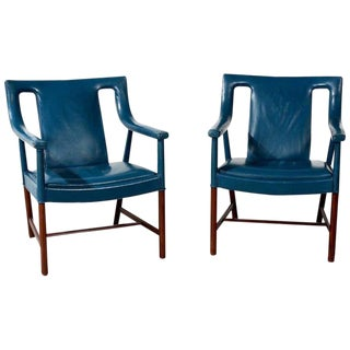 Ejner Larsen and Aksel Bender Madsen Pair of Armchairs, Circa 1940s For Sale