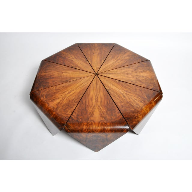 Hungarian Walnut Octagonal Coffee Table For Sale - Image 4 of 13