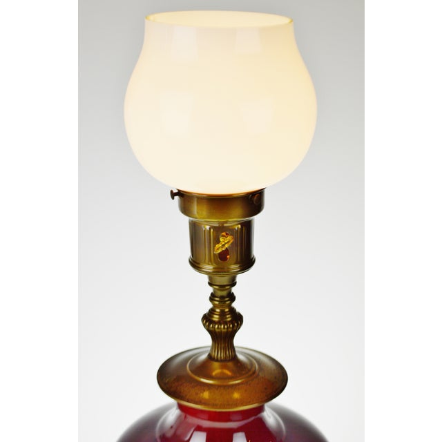 Early 20th Century Vintage E. F. Chapman Style Torchiere Table Lamp With Diffuser For Sale - Image 5 of 13