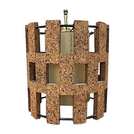Mid-Century Cork Pendant Light - Image 1 of 6