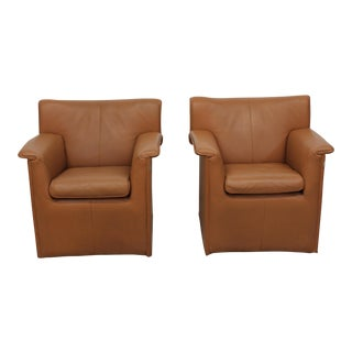 Afra & Tobia Scarpa for B&B Italia Mid-Century Lauriana Chairs - A Pair