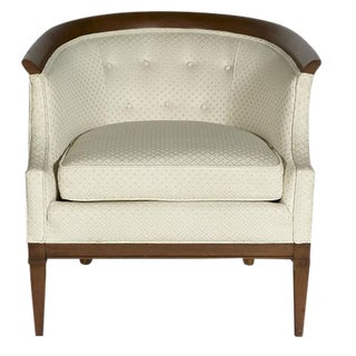 Erwin Lambeth for Tomlinson Furniture Walnut Sculpted Lounge Chair