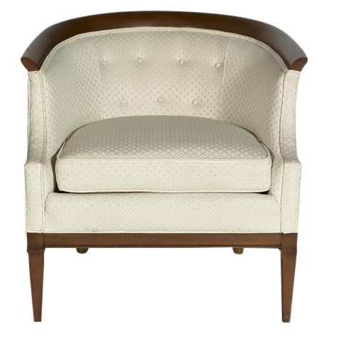 Erwin Lambeth for Tomlinson Furniture Walnut Sculpted Lounge Chair For Sale
