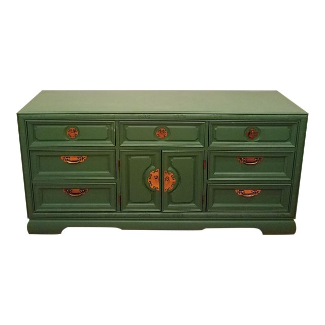 Green Campaign Style Dresser - Image 1 of 6