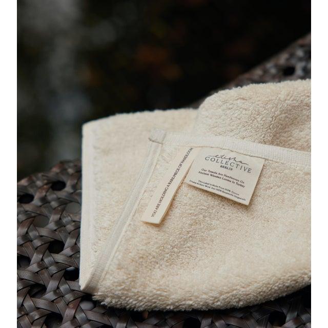 Modern Plush & Bare Handmade Organic Cotton Face Cloth in Ecru For Sale - Image 3 of 5