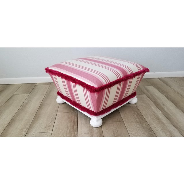 Hollywood Regency Style Ottoman . For Sale - Image 12 of 12