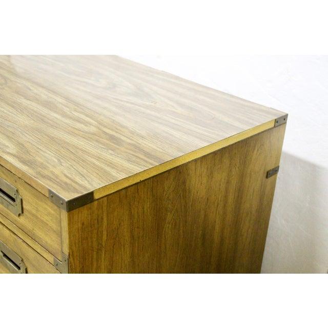 1960s Bernhardt Campaign Partner Desk For Sale - Image 5 of 12