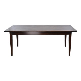 19th Century Chestnut Rectangular Farm Table For Sale