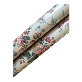 Waverly Floral Wallpaper - 2 Rolls For Sale