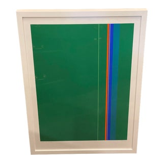Late 20th Century Geometric Abstract Numbered Print, Framed For Sale