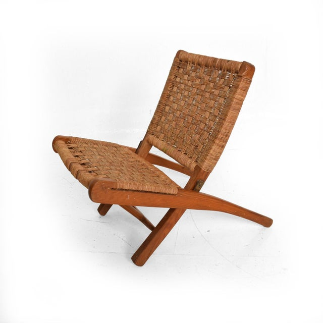 Tan Mexican Modernist Small Folding Chair After Clara Porset For Sale - Image 8 of 8