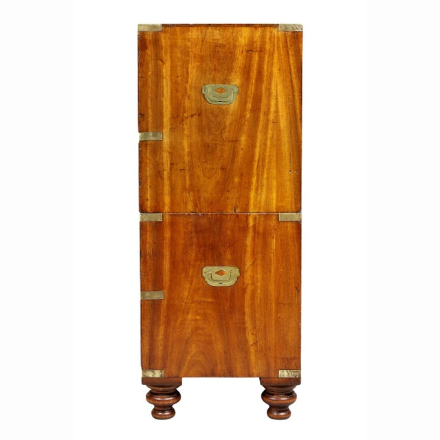 Regency Campaign Mahogany Chest For Sale - Image 9 of 11