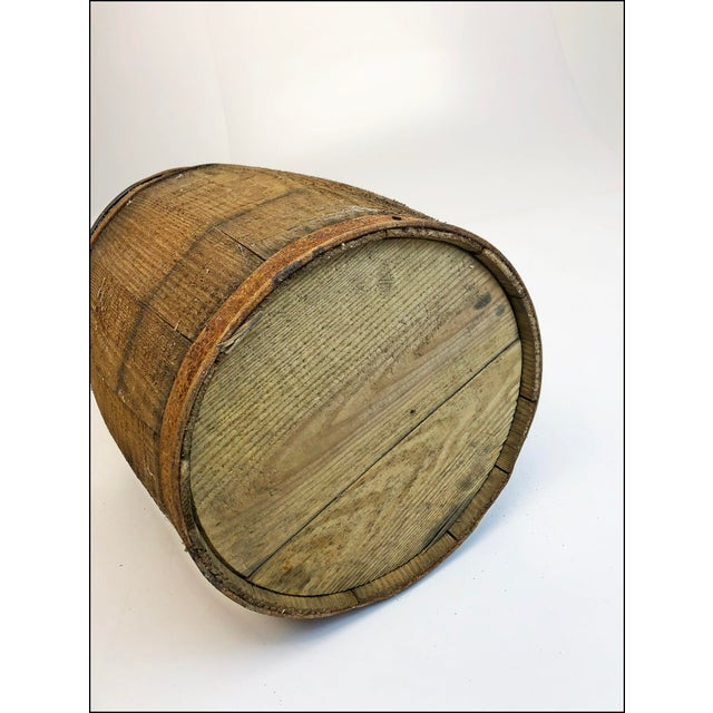 Drawing/Sketching Materials Vintage Rustic Banded Weathered Wood Nail Keg For Sale - Image 7 of 11