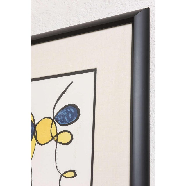 Abstract 20th Century Pencil Signed Color Lithograph by Alexander Calder For Sale - Image 3 of 9