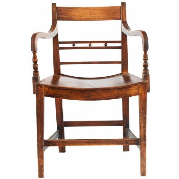Classic 19th Century English Regency Library Armchairs From an Equestrian Estate - a Pair For Sale - Image 4 of 4