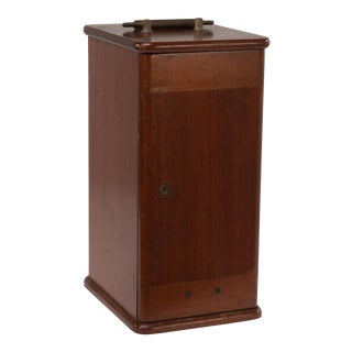 1890s Century Mahogany Microscope Case Box #3 With Brass Handle For Sale
