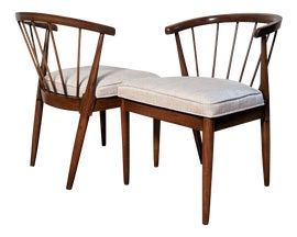Image of Newly Made Curved Back Dining Chairs