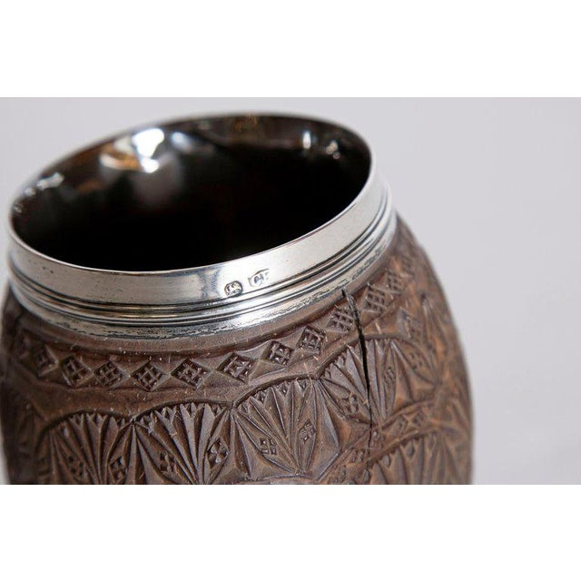 Late 18th Century Geroge III Coconut & Silver Goblet by Charles Hougham For Sale - Image 12 of 13