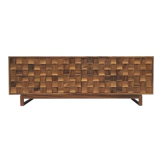 Hand crafted guanacaste credenza, by Artes & Oficios For Sale