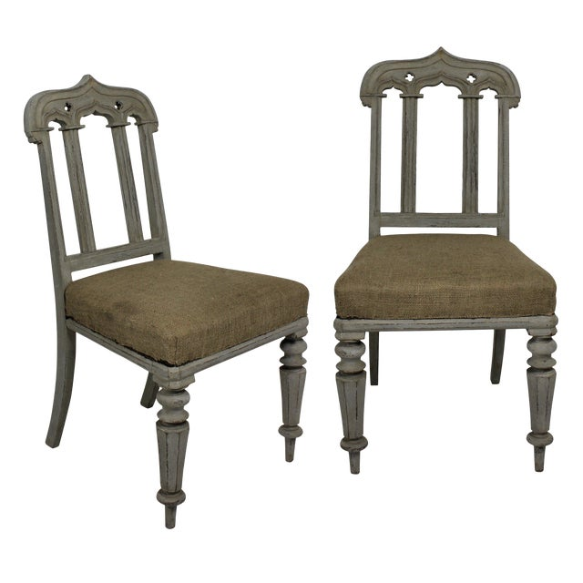Pair of Gothic Chairs For Sale