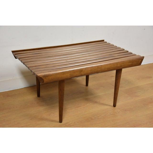 Mid-Century Modern Slatted Bench - Image 2 of 7