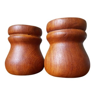 Teak Salt & Pepper Shaker Set