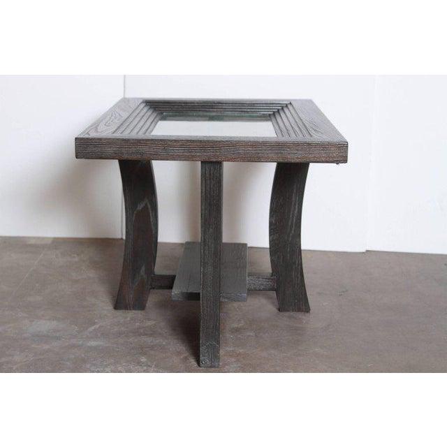 Wood Post Art Deco Cerused Oak Side Table by Brown Saltman Paul Frankl For Sale - Image 7 of 11