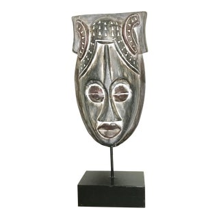 African Mask on a Wood Stand