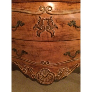 Italian Carved Wood & Marble Bombe Chest of Drawers Preview