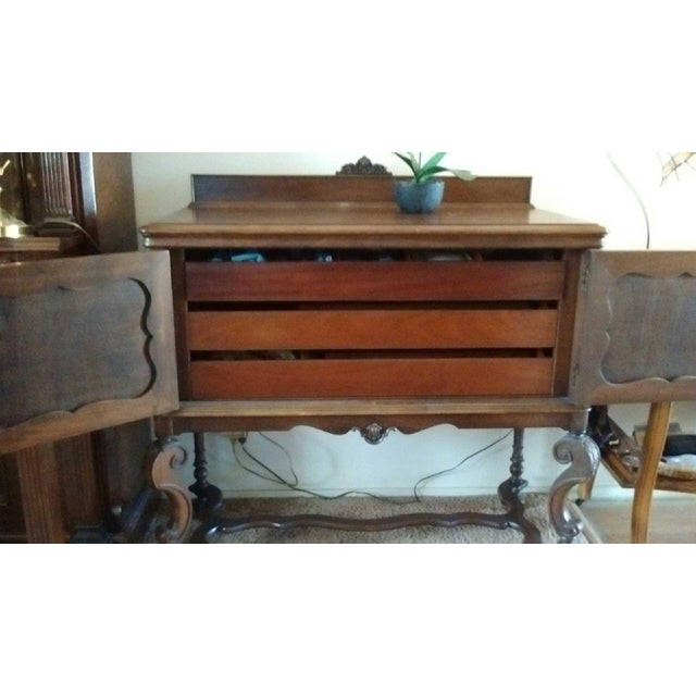 Antique Serpentine Sideboard Buffet - Image 9 of 10