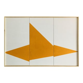 "Original Acrylic Painting ""Yellow On Point Triptych JET0499"""