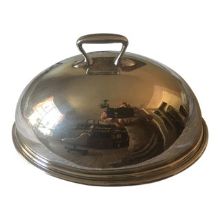 Vintage Silver Plate Covered Dome and Platter Server For Sale