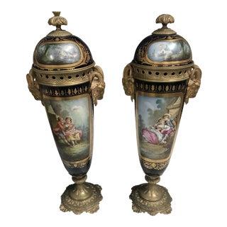 1860s Antique Decorative Sevres - a Pair For Sale