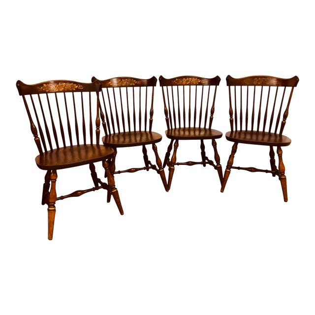 Outstanding Early 20Th Century Hitchcock Chairs Set Of 4 Machost Co Dining Chair Design Ideas Machostcouk