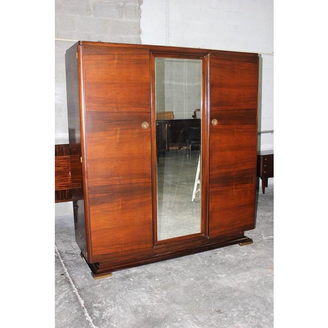 Art Deco Beautiful Maxime Old French Art Deco Masterpiece Armoire Circa 1930s. For Sale - Image 3 of 6