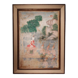 Antique Thai Buddhist Painting For Sale