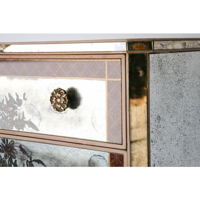 1940s 1940s Églomisé Mirrored Chest of Drawers - a Pair For Sale - Image 5 of 13