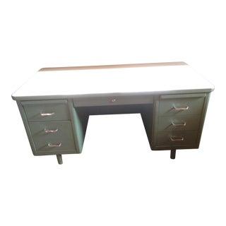 Steelcase Mid-Century Steel Tanker Desk For Sale