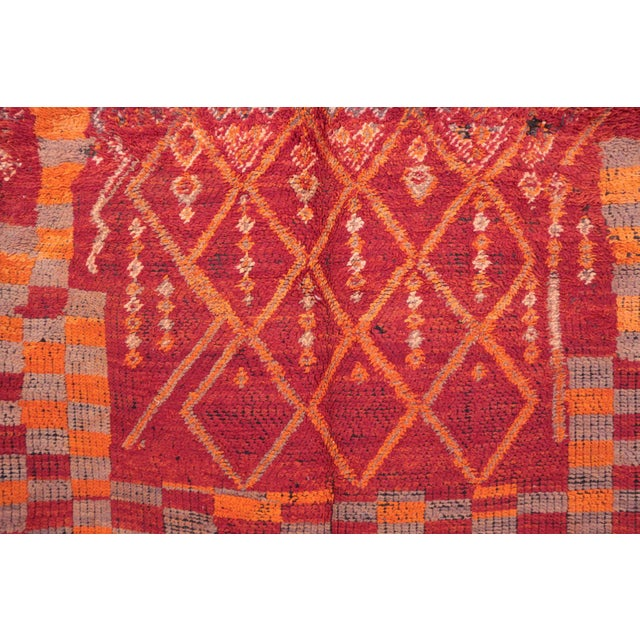 Boujad rugs are hand woven pile rugs from a small region in Morocco between the Middle Atlas and the Atlantic ocean. Type...