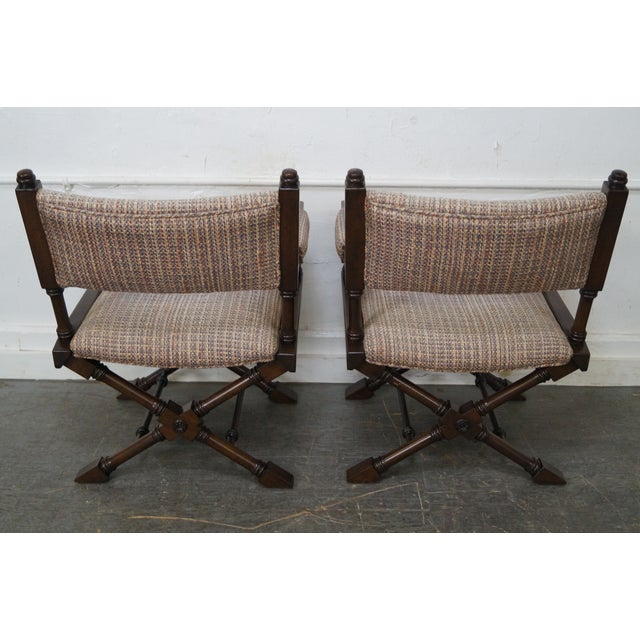 Regency Style Directors' Arm Chairs - Set of 4 For Sale - Image 4 of 10