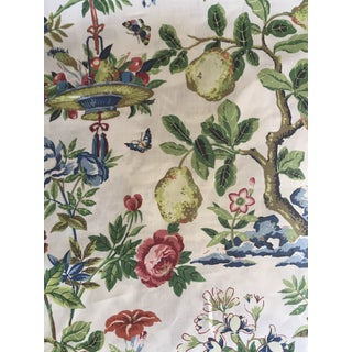 Traditional Scalamandre Shantung Garden Linen Fabric - 5 1//2 Yards For Sale