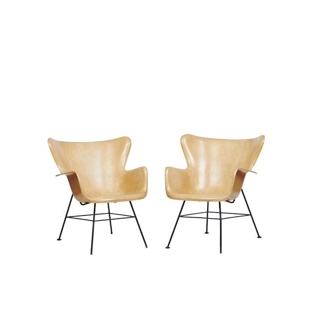 Mid-Century Modern Lawrence Peabody Wingback Chairs - A Pair For Sale - Image 9 of 9